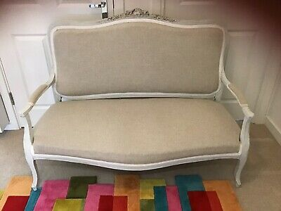 Antique French Decorative Boudoir Love Seat / Chaise Sofa~Country Chateau