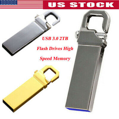 2TB/1TB Metal USB 3.0 Flash Drive Memory Stick Pen U Disk Swivel Key Thumb PC