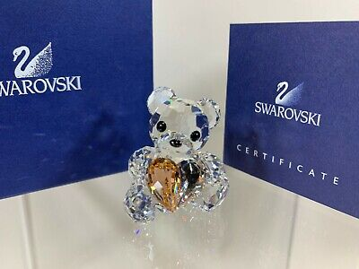 Swarovski Crystal Kris Bear Annual Edition 2007 From The Heart 883420 NIB W/COA