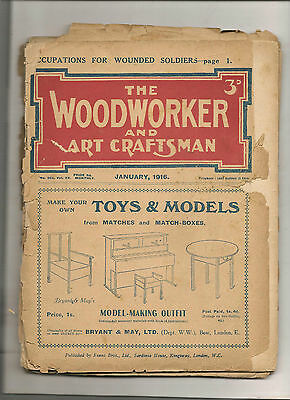 THE WOODWORKER & ART CRAFTSMAN MAGAZINEs 1913 -1916 incl. ADVERTS No. 232 to 266