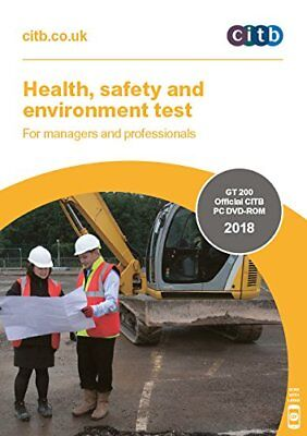 2018 CSCS CARD Test DVD/ROM for Managers and Professionals CITB GT 200/18 New