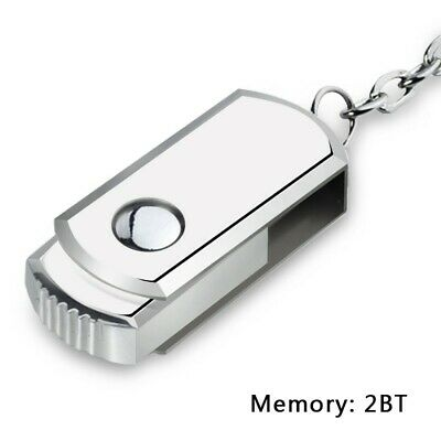 2TB USB 3.0 Memory Stick Flash Hook Thumb Drive Silver USA SELLER!