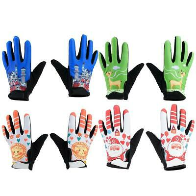 Kids Children Boys Girls Bike Cycling Full Finger Gloves Sports Bicycle Riding