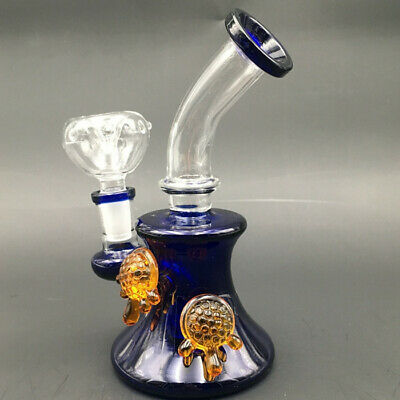 Showerhead Glass Water Bong Pink Percolator Perc Bubbler Hookah Pipe Tobacco