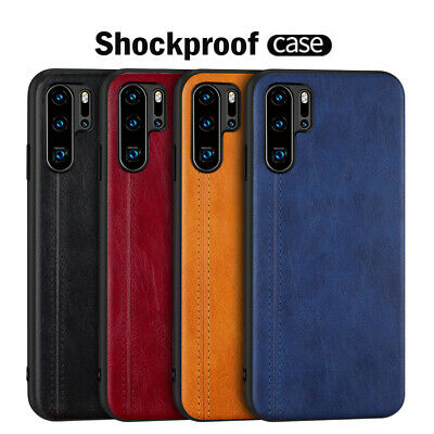For Huawei P30 Pro P20 Lite Luxury Hybrid TPU Leather Slim Hard Back Case Cover