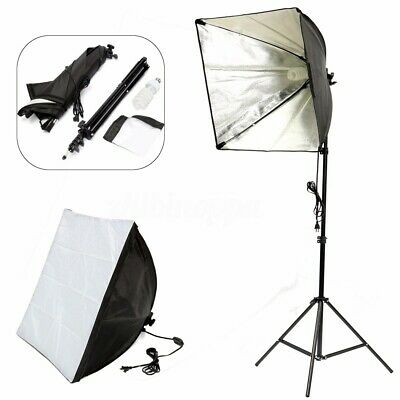 Photo Studio Set Photography Continuous Lighting Softbox Kit W/ Bulb Light  ❤