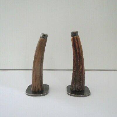 Salt & Ppper Shakers  Deer Horn - Rodgers Ep Stamp-Pre-Owned