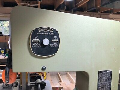 Startrite T Series Bandsaw Blade speed selection indicator from a 14-T-10 saw.