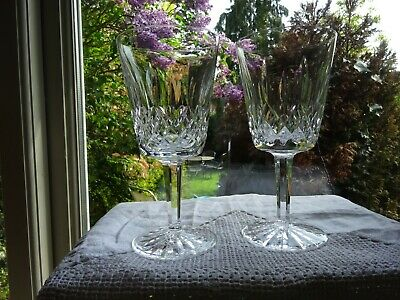Waterford Crystal Lismore Pair of Large Wine Glasses/Goblets