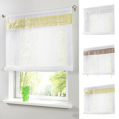 1 PC Roman Shade White Light In Roman Valance 3 Size Choose With Transparent Rod