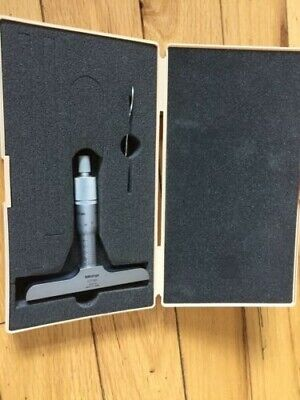 MITUTOYO 0-25mm DEPTH MICROMETER  IN PERFECT CONDITION