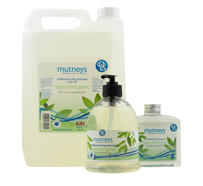 Mutneys CONCENTRATED Dog Pet Shampoo Hypoallergenic Sensitive Skin Westie Puppy