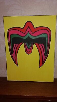 Wwe the ultimate warrior canvas 30x40cm hand painted