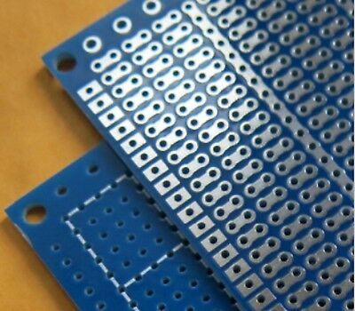 9x7 cm PCB Veroboard Prototype Stripboard Strip Vero Board breadboard BLUE B