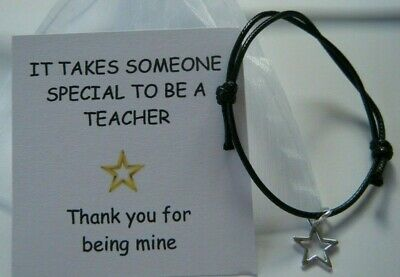 Teacher Thank You Gift End Of Year Term School Leaving Gift Bracelet Special