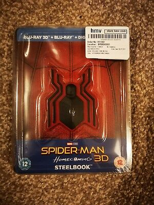 Spider-Man: Homecoming / 3D Blu-Ray with HMV Exclusive UK Steelbook & Magnet