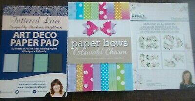 Tattered Lace, Charisma, Craftwork Cards paper pads bundle