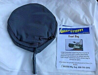 Diestco Great Stuff Front Arm Rest Storage Bag for Scooters & Wheelchairs Black
