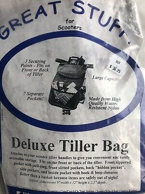 Diestco Great Stuff Tiller Bags For Scooters Standard & Deluxe Made In USA