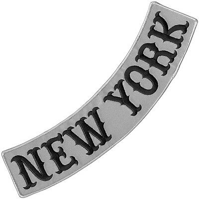 Vegasbee® New York Reflective Embroidered Patch Biker Jacket Low Rocker 12""