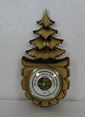 Black Forest Hand Carved Stockburger Barometer German Bavaria Tree Vintage