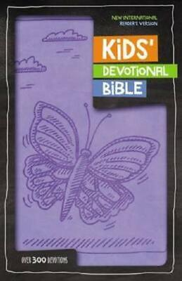 NIRV Kids' Devotional Bible, Leathersoft, Lavender by Zondervan
