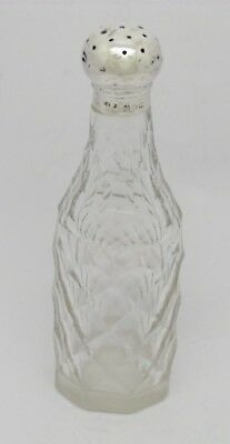 V Rare Antique Solid Silver Top 'kyan' Engraved Cayenne Condiment Bottle Hm 1884