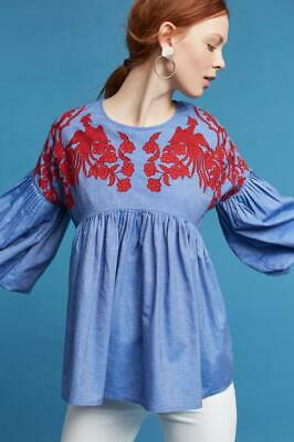 0ab6b53d8636d NWT! ANTHROPOLOGIE BY HEMANT & NANDITA Mavra Embroidered Off-The ...