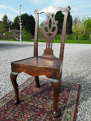 Antique Period Oak Chair. Early Georgian 1740.