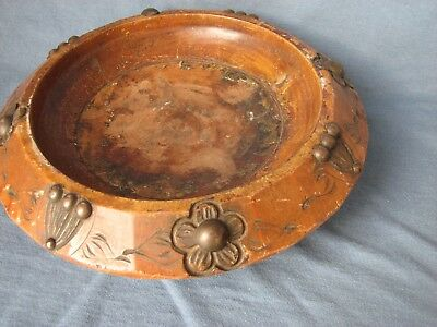 Antique carved wooden bowl