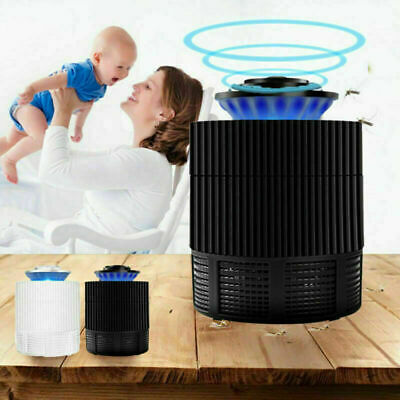 White Insect Zapper LED Light Absorb Mosquito Bug Fly Pest Killer Trap for Baby