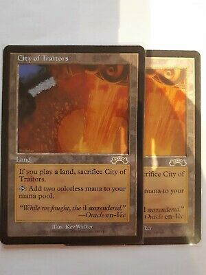 Mtg city of traitors  x 1 great condition