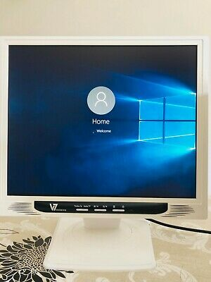 "Videoseven W17PS 17"" LCD Monitor with Built-in Speakers - White"