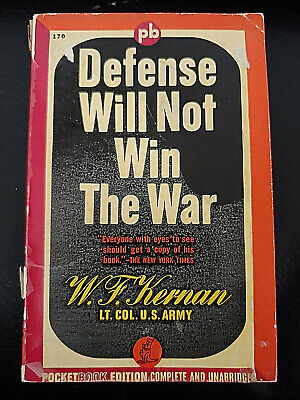 Vintage1942 Book DEFENSE WILL NOT WIN THE WAR- WW2  World War II U.S. Army
