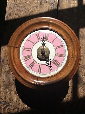 Antique Postmasters Clock Vintage Pink Vintage Shop Tearoom Royal Mail Post