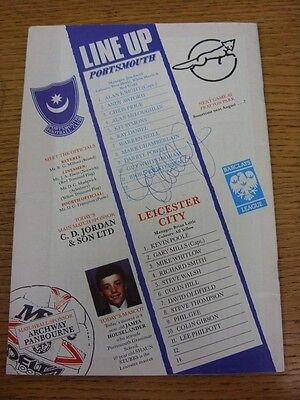19/05/1993 Play-Off Semi-Final Division 1: Portsmouth v Leicester City [Autograp