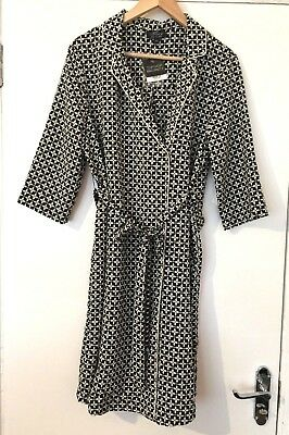 Topshop Maternity Black Floral Long Line White Duster Jacket Size 14 ♡♡♡