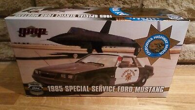 Automotive Gokr Cars 1:18 Gmp Ford Mustang California Highway Patrol Spezial Service Nip