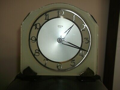 Clock 1950S Mantle Electric Retro Clock in a nice Sage Green  Smiths Make