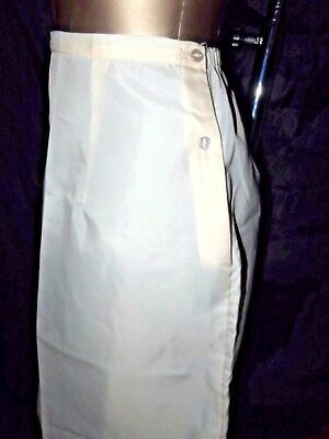 Vintage Rustly M& S Short Slip Slippery Silky Nylon Beige Size Small 8/10 Uk