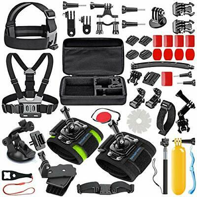 51-in-1 Sport Camera Accessories Kit with Anti-Fog Inserts and Floating Grip