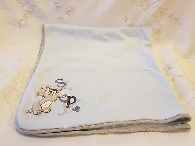 Disney George Asda Scamp Lady & The Tramp Blue Double Sided Blanket Excellent