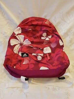 Adidas Flowers Floral Purple Pink White Rucksack Bag School New No Tag
