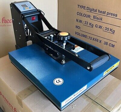 15 x 15 Digital Clamshell Sublimation Heat Press Transfer T Shirt Machine REF A