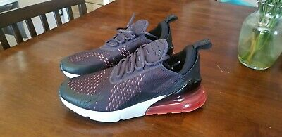 the latest 2463d bb209 Nike Air Max 270 Oil Grey Habanero Red Black White Mens Sz 9.5 AH8050-013