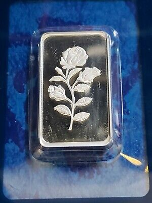 1/2 oz Silver Bar - PAMP Suisse (Rosa, In Assay) 15.55 grams