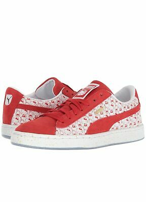 7e73af7ed Damenschuhe Puma x Hello Kitty 50 Anniversary Suede Red White GS 366463-01  Authentic US3y~7y