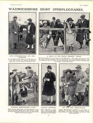 1922 Warwickshire Hunt Steeplechase Captain Sherrard Lady Betty Butler