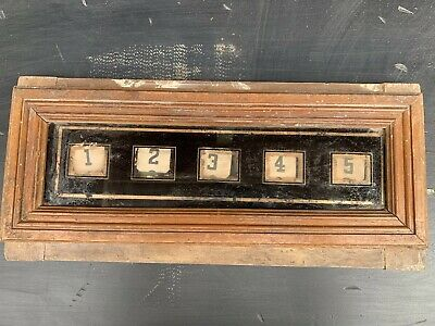 Antique Vintage Maid Butlers Servant Indicator Call Bell Signal Box. NO RESERVE