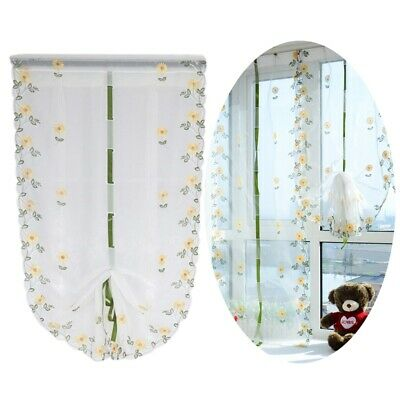 Roman Shade Fashion Home Roman Valance Floral Pattern Privacy Protecting Curtain